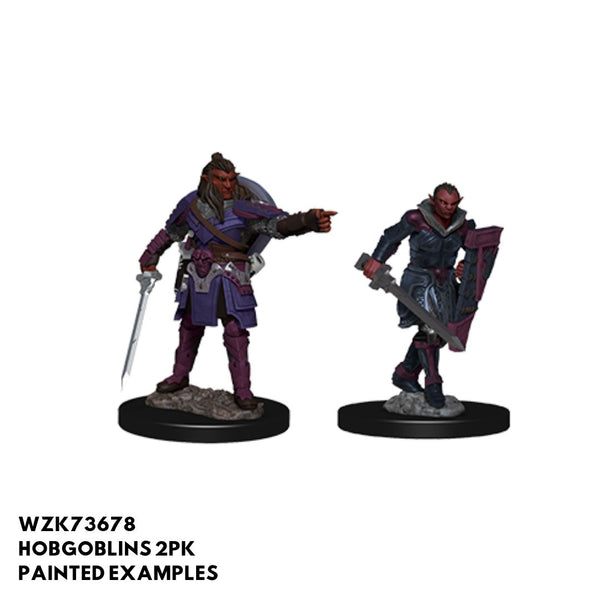 Hobgoblins: Captain & Female Officer 2pk  ||  D&D Nolzur's Marvelous Unpainted Miniatures