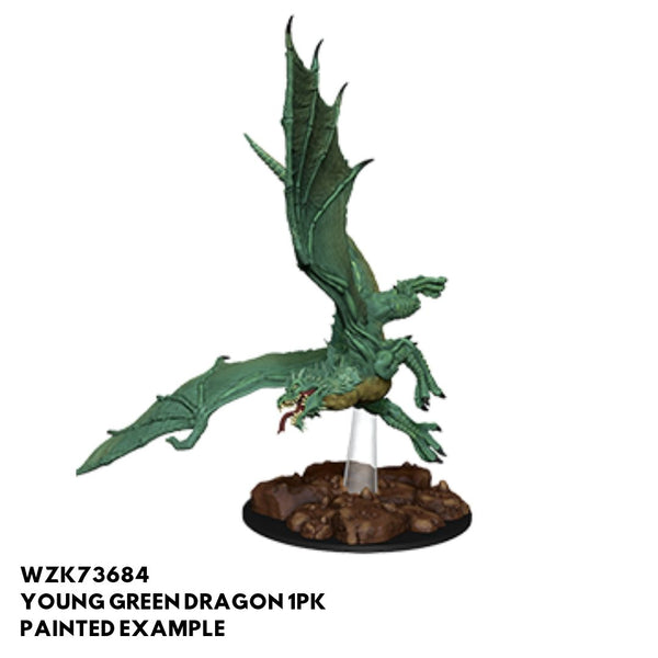 D&D Minis - Young Green Dragon - painted