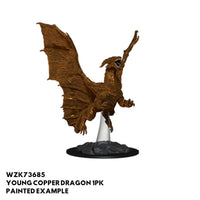 D&D Minis - Young Copper Dragon - painted