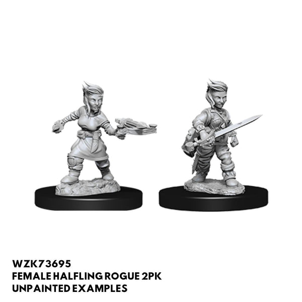 Female Halfling Rogue w/ Sword or Crossbow 2pk  ||  Pathfinder: Deep Cuts Unpainted Miniatures