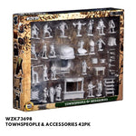 Wizkids #73698 Townspeople & Accessories 42pk - Packed, front view