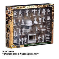 Pathfinder Miniatures - Townspeople & Accessories - Packed, front view