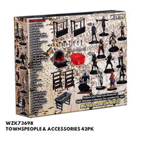 Pathfinder Miniatures - Townspeople & Accessories - Packaged, back view