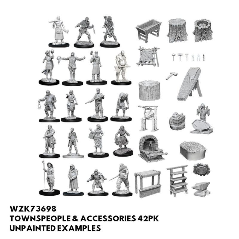 Pathfinder Minis - Townspeople & Accessories - Unpainted