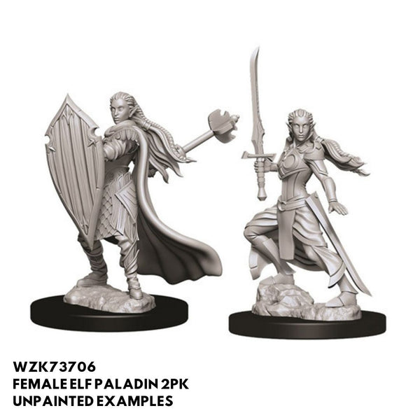 D&D Minis - Female Elf Paladin 2pk - Unpainted