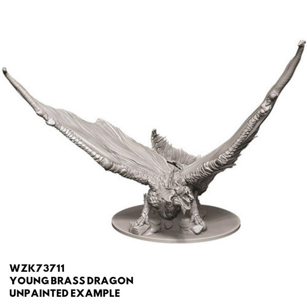 D&D Minis - Young Brass Dragon - unpainted