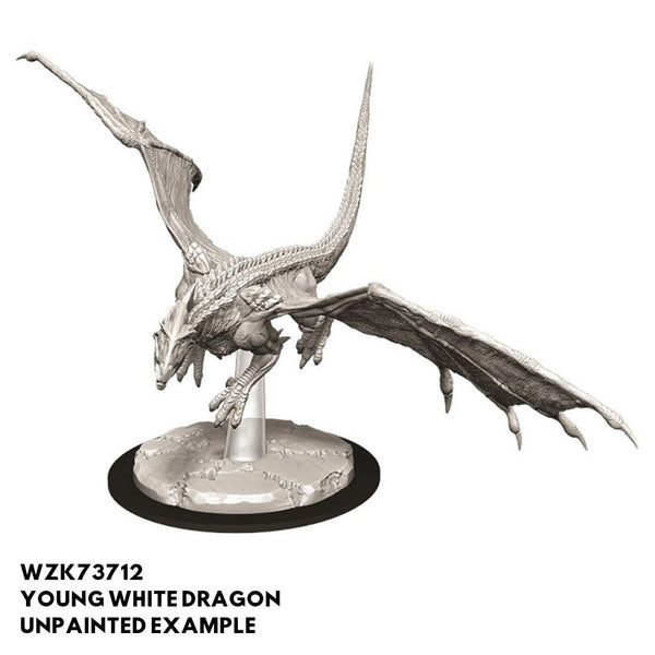 Wizkids #73712 Young White Dragon 1pk - Unpainted Example