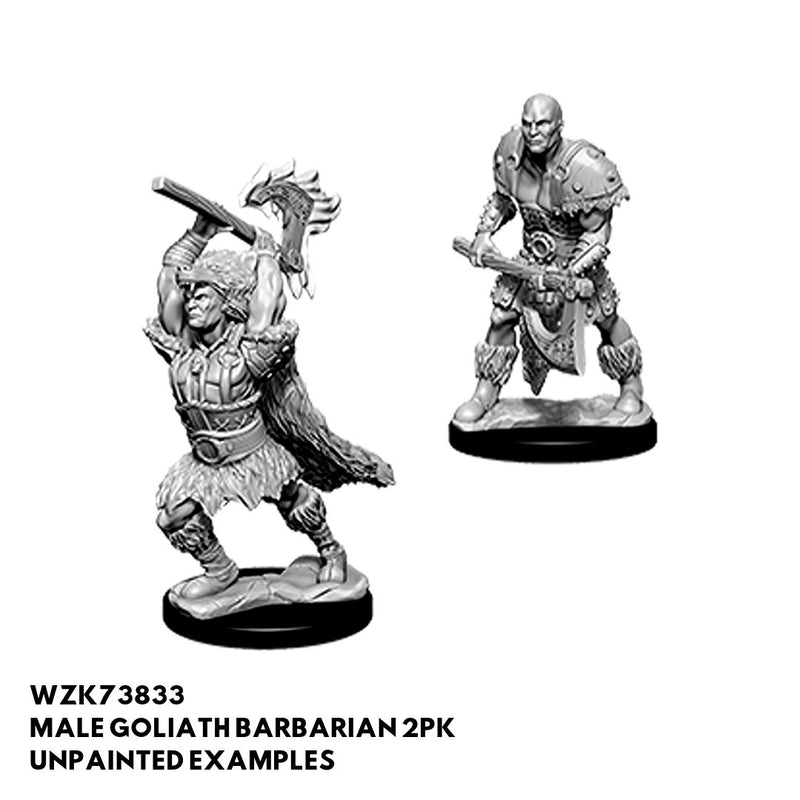 D&D Miniatures - Male Goliath Barbarian 2pk - Unpainted