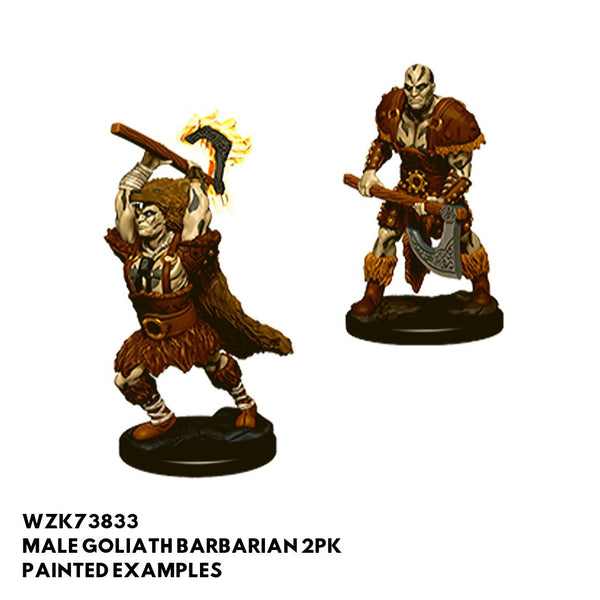 D&D Minis - Male Goliath Barbarian 2pk - Painted