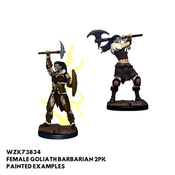 D&D Minis - Female Goliath Barbarian 2pk - Painted