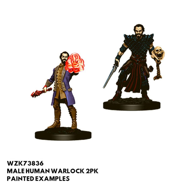 D&D Minis - Male Human Warlock 2pk - Painted
