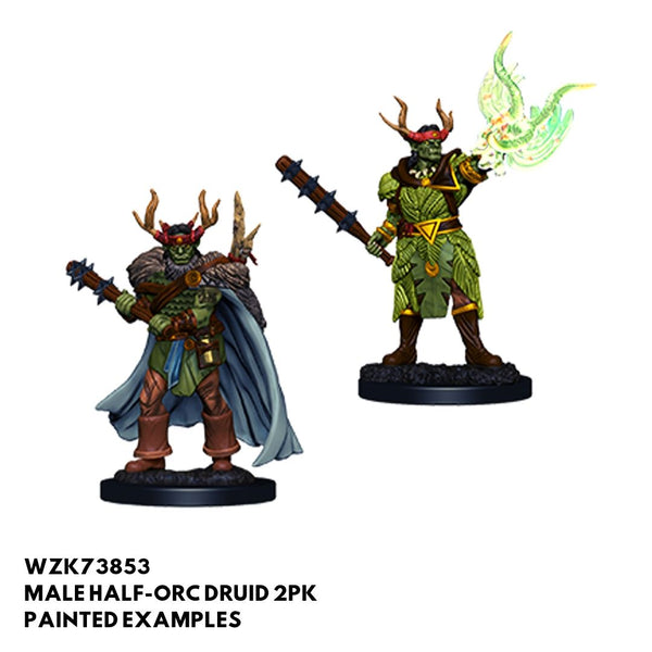 Pathfinder Miniatures - Male Half Orc Druid - Painted