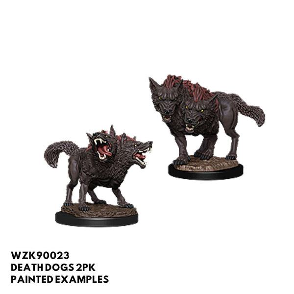 d&d minis - death dogs two headed