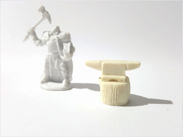 Fantasy Terrain - Blacksmith Anvil & Tree Stump Kit