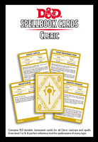 D&D Spellbook Cards Cleric Deck (149 Cards) Revised 2017 Edition ||  D&D Card Decks