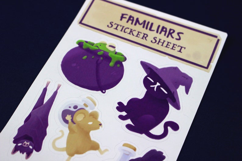 Dungeons and Dragons Stickers - Familiar