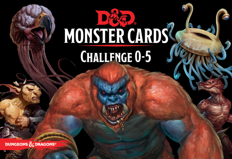 D&D Monster Cards - Challenge rating 0-5