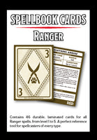 Gale Force Nine #73920 D&D Spellbook Cards Ranger Deck (46 Cards) Revised 2017 Edition - Box, Back View