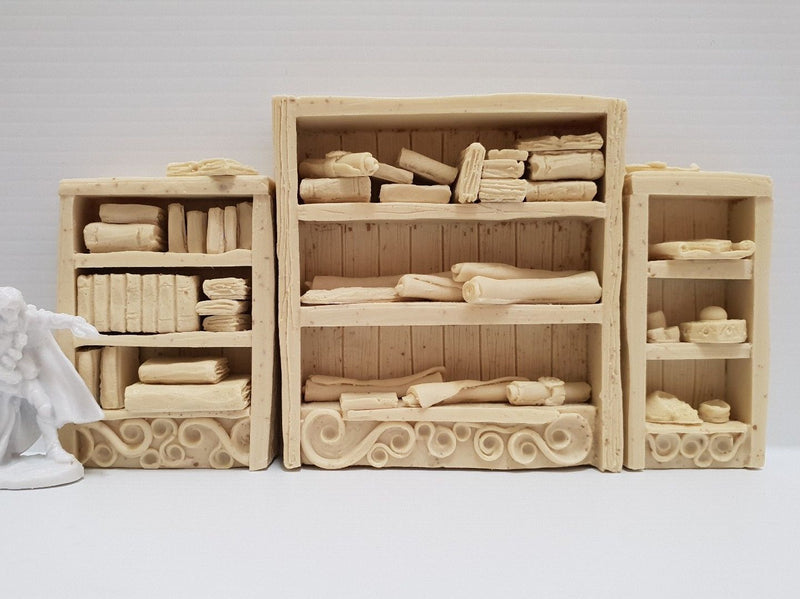 Fantasy Terrain - Wizard's Bookshelves Kit - 3 bookshelves