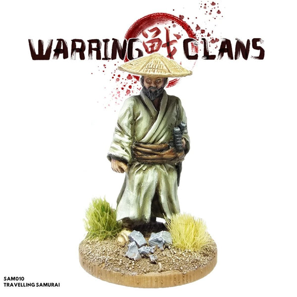 footsore metal mini - travelling samurai hat - dnd miniatures