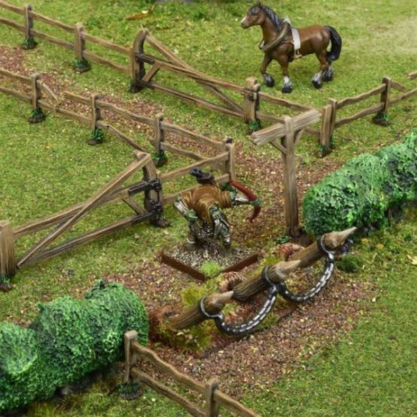 TerrainCrate Battlefield Fences & Hedges - d&d terrain