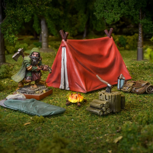TerrainCrate Hunter's Camp 6pk  ||  Terrain & Scenery for 28mm Tabletop Gaming