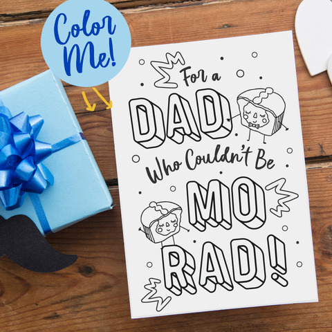 Father's Day Coloring Sheet / Card - FREE DOWNLOAD