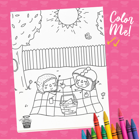Picnic Coloring Sheet - FREE DOWNLOAD