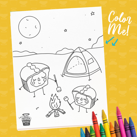 Campfire Coloring Sheet - FREE DOWNLOAD