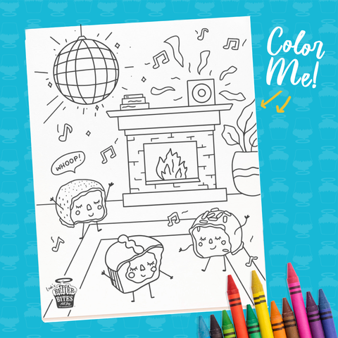Dance Party Coloring Sheet - FREE DOWNLOAD
