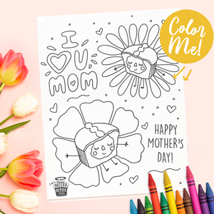 Mother's Day Coloring Sheet - FREE DOWNLOAD