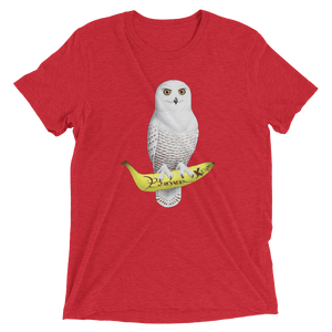 White Owl Banana Grape | Triblend t-shirt - BananaKlip