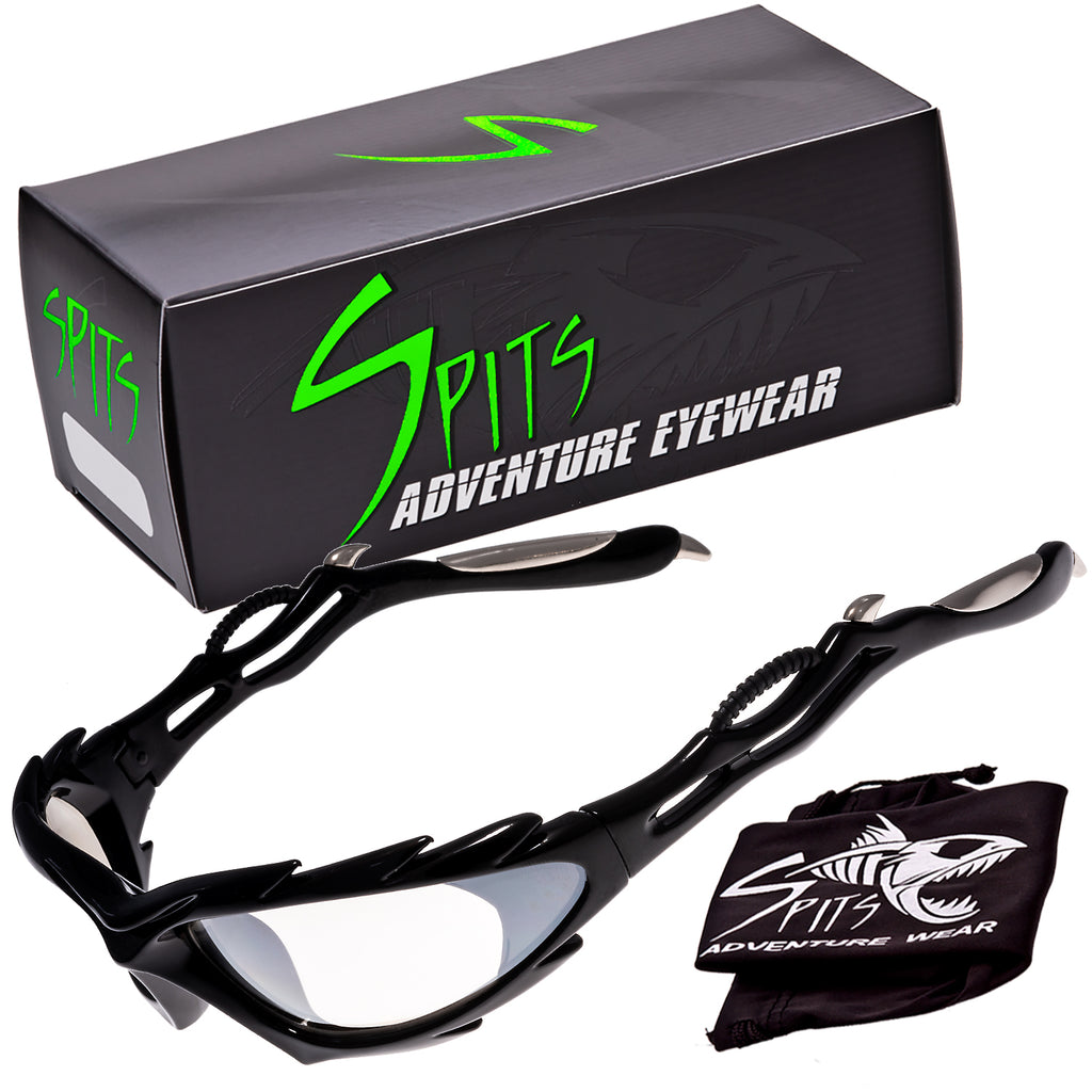 AREA 51 Motorcycle Sports Sunglasses, Clear Mirrored Lenses