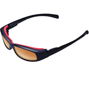 New Attitude Red Rubber Accent Frame Various Lens Color Options