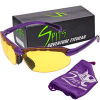 C2 Top Focal/Bottom Bifocal Safety Glasses in Purple Frame