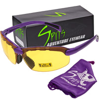 C2 Top Focal OR Bottom Bifocal Safety Glasses, Purple Frame, Various Lens Options ANSI Z87.1+