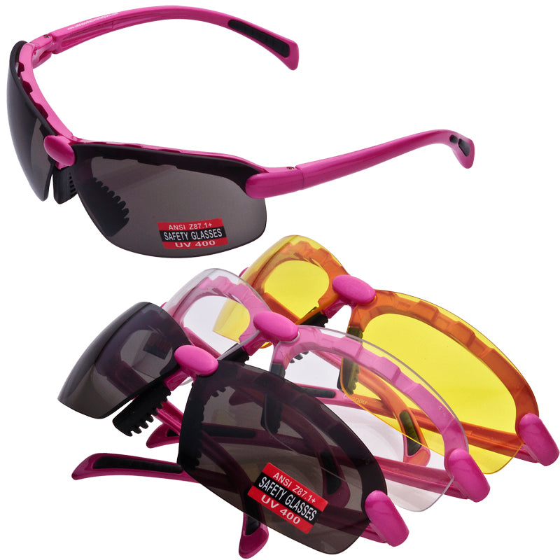 C2 Safety Glasses Nylon Frame Choose Lens and Frame Color