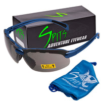 C2 Top Focal/Bottom Bifocal Safety Glasses in Blue Frame
