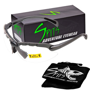 C2 Top Focal OR Bottom Bifocal Safety Glasses, Gray Frame, Various Lens Options ANSI Z87.1+