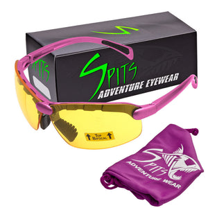 C2 Top Focal OR Bottom Bifocal Safety Glasses, Pink Frame, Various Lens Options ANSI Z87.1+