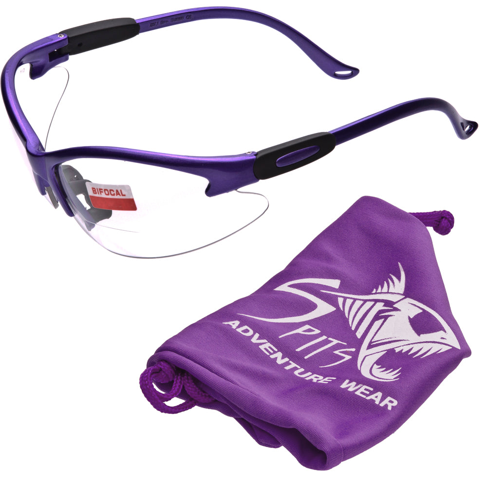 Cougar DARK PURPLE Magnifying Bifocal Safety Glasses