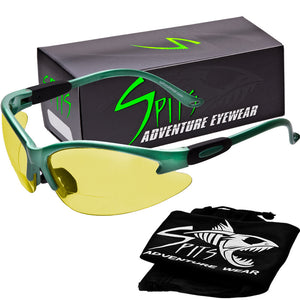 Cougar SEAFOAM GREEN Safety Glasses, Various Lens Options, including Photochromic