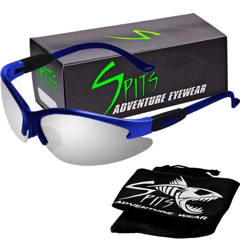 Cougar ROYAL BLUE Safety Glasses, Various Lens Options, including Photochromic