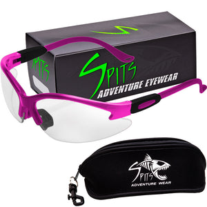 Cougar DARK PINK Safety Glasses, Various Lens Options, including Photochromic