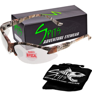 Cougar Bifocal Safety Glasses  - Forest Camo Frame