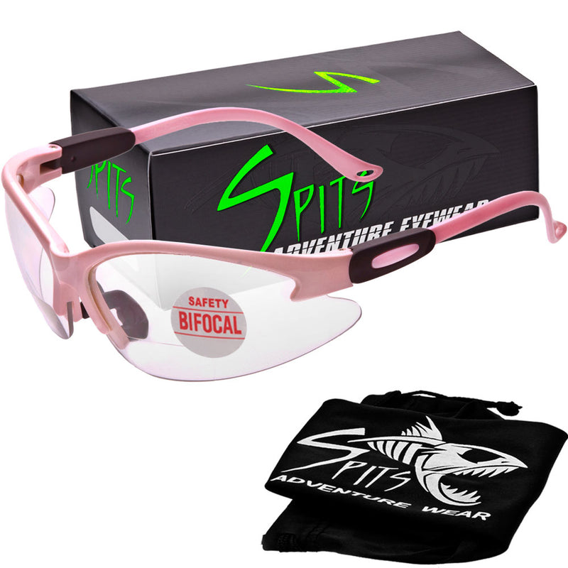 Cougar LIGHT PINK Magnifying Bifocal Safety Glasses