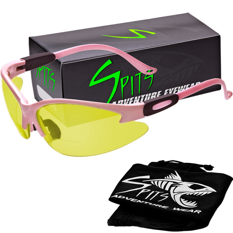 Cougar LIGHT PINK Safety Glasses, Various Lens Options, including Photochromic