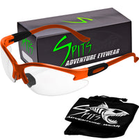Cougar ORANGE Safety Glasses, Various Lens Options, including Photochromic
