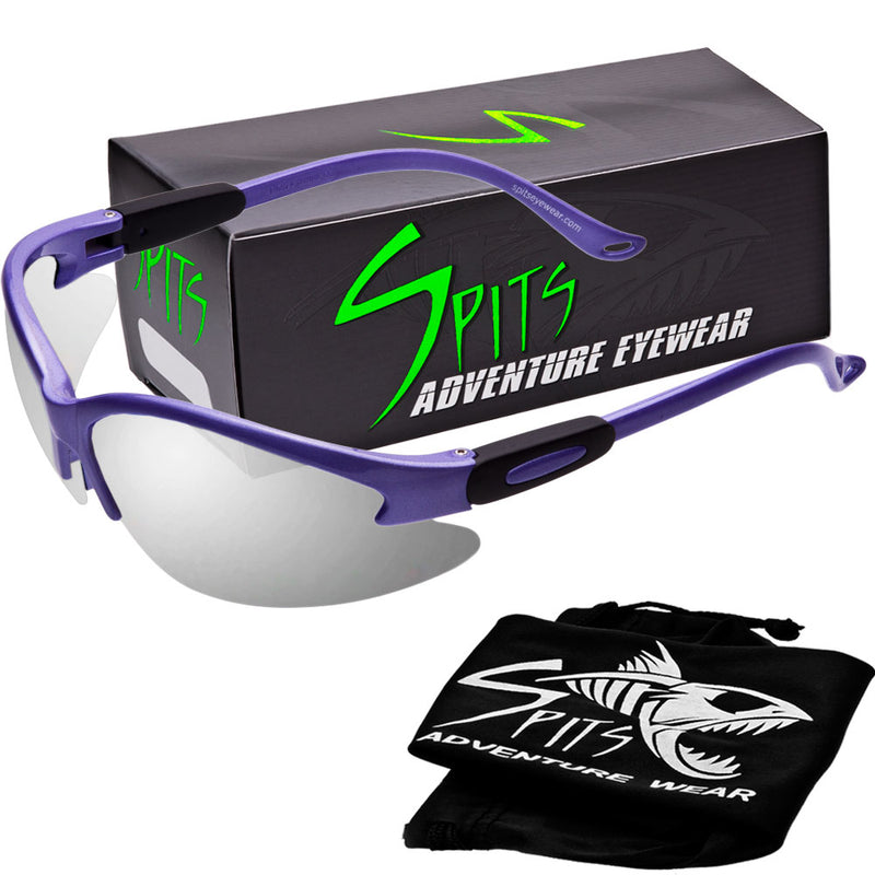Cougar POWDER PURPLE Safety Glasses, Various Lens Options, including Photochromic