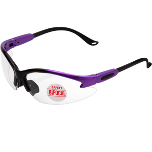 Cougar TWO TONED PURPLE Magnifying Bifocal Safety Glasses
